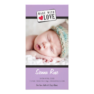 PHOTO BIRTH ANNOUNCEMENT :: made with love 4