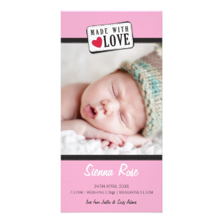 PHOTO BIRTH ANNOUNCEMENT :: made with love 5