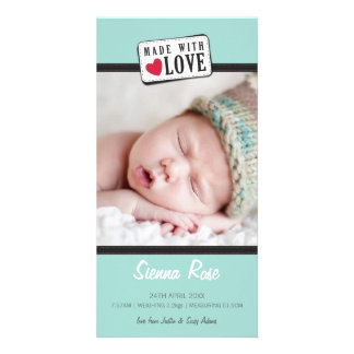 PHOTO BIRTH ANNOUNCEMENT :: made with love 6