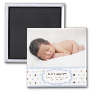 Photo Birth Announcement Magnets - Baby Boy