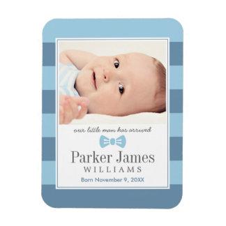 Photo Birth Announcement | Our Little Man Magnet