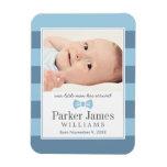 Photo Birth Announcement | Our Little Man Vinyl Magnet