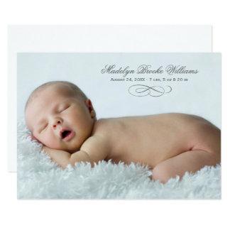 Photo Birth Announcement | Simple Script Elegance