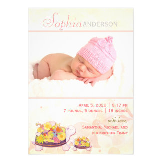 Photo Birth Announcements for Baby Girl