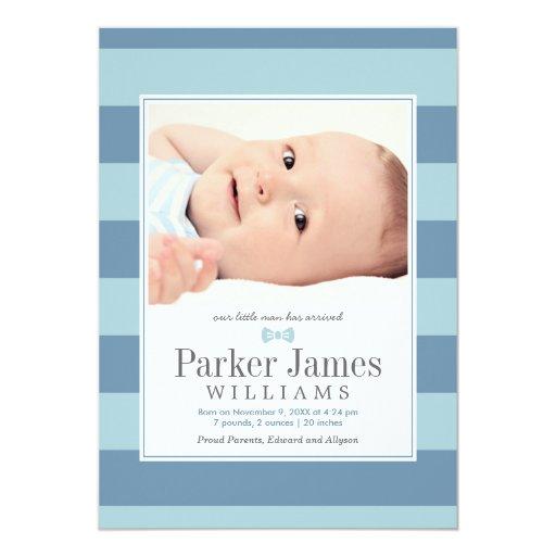 Photo Birth Announcements | Our Little Man
