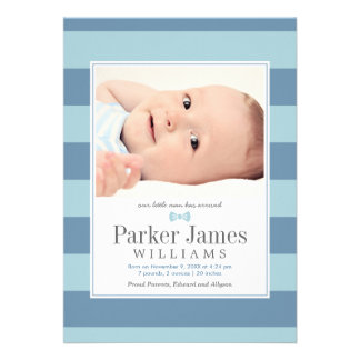 Photo Birth Announcements Our Little Man
