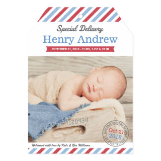 Photo Birth Announcements | Special Delivery