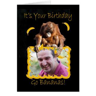 Photo Birthday card with an orang utan