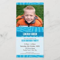 PHOTO BIRTHDAY INVITATIONS :: animal print 1