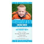 PHOTO BIRTHDAY INVITATIONS :: animal print 1 Personalized Photo Card