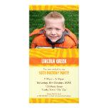 PHOTO BIRTHDAY INVITATIONS :: animal print 4 Photo Greeting Card