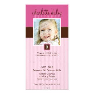 PHOTO BIRTHDAY INVITATIONS :: lovely square 5