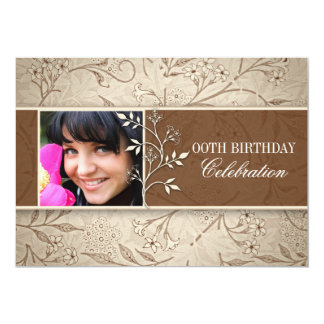 photo birthday party 5x7 paper invitation card