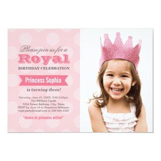 Photo Birthday Party Invitation   Princess in Pink