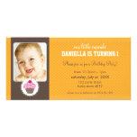 PHOTO BIRTHDAY PARTY INVITE :: cupcake 2L Photo Card