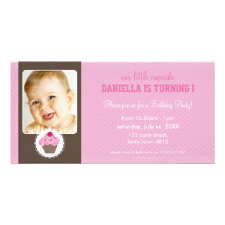 PHOTO BIRTHDAY PARTY INVITE :: cupcake 3L