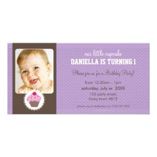 PHOTO BIRTHDAY PARTY INVITE :: cupcake 5L Picture Card