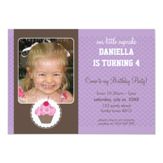 PHOTO BIRTHDAY PARTY INVITES :: cupcake 5L