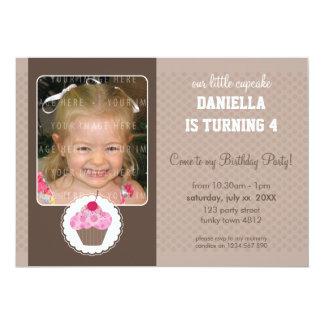 PHOTO BIRTHDAY PARTY INVITES :: cupcake 7L