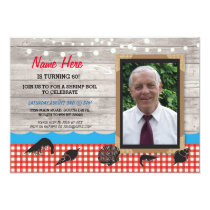 Photo Birthday Party Shrimp Boil Seafood Invite