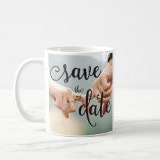 Photo Black And White Save The Date Mug