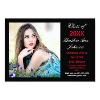 Photo Black Background - 3x5 Grad Announcement