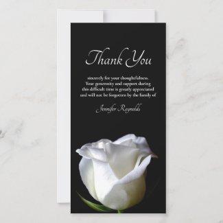 Photo Black & White Sympathy Funeral Thank You