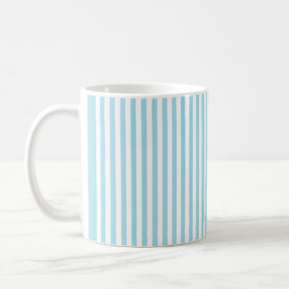 Photo Blue Vertical Stripes Coffee Mug