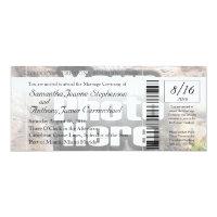 Photo Boarding Pass Wedding Ticket Invitation
