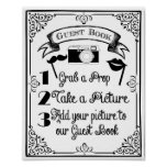 PHOTO BOOTH guest book wedding or party sign Poster
