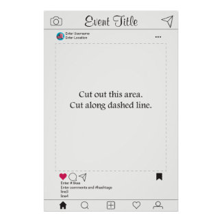 Photo Booth Prop Frame Poster Instagram Design