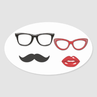 Photo Booth Props Mustache Stickers