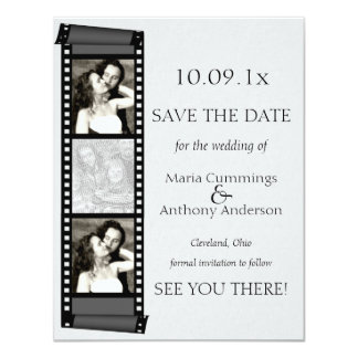Photo Booth Save The Date 4.25x5.5 Paper Invitation Card