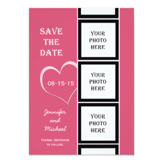 Photo Booth Save the Date Invitation Card