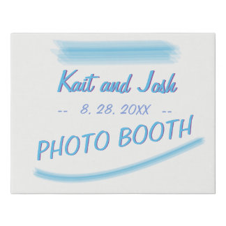 Photo Booth Sign Minimalist Soft Ambiance Blue