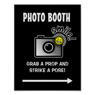 Photo booth sign poster for wedding or Birthday