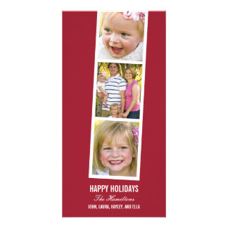 Photo Booth Style Holiday Photo Card Customized Photo Card