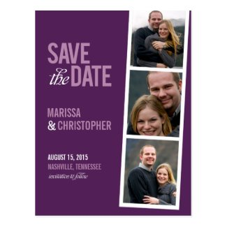 Photo Booth Style Save The Date Card