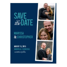 Photo Booth Style Save The Date Card Post Cards