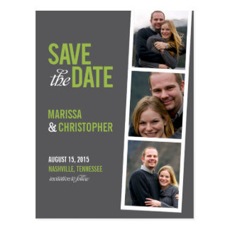 Photo Booth Style Save The Date Card Postcard