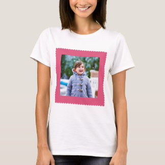 Photo Border Frame Pink Dots T-Shirt