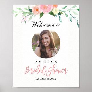 Photo Bridal Shower Welcome Sign Botanical