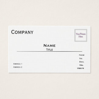 Photo Business Cards (White Linen)