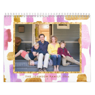 Photo Calendar Pink And Gold