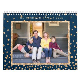 Photo Calendars Gold Foil And Blue Confetti