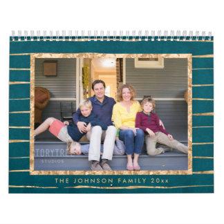Photo Calendars Gold Foil And Petrol Blue