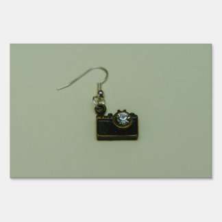 Photo camera earring signs