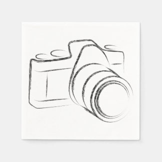 Photo Camera Standard Cocktail Napkin