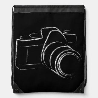 Photo Camera Drawstring Bags