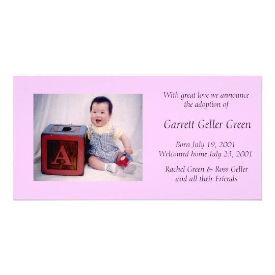 Photo Card Adoption Announcement